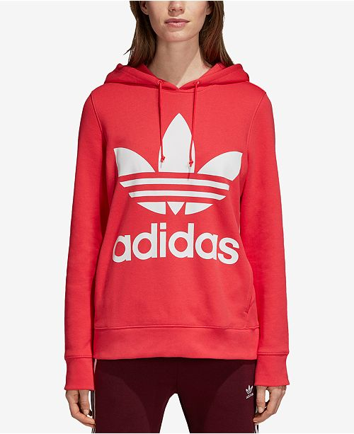 3533faef3390 adidas Adicolor Trefoil Cotton French Terry Hoodie   Reviews - Tops ...