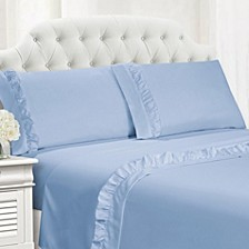 Ruffle Hem Full 4 PC Sheet Set