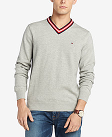 Tommy Hilfiger Men's Signature Brooks Cricket Sweater, Created for Macy's