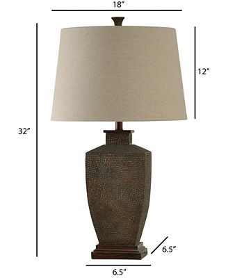 Stylecraft Hammered Metal Table Lamp Lighting Lamps Home Macy S
