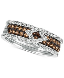 Le Vian Chocolatier® Diamond Band (5/8 ct. t.w.) in 14k White Gold