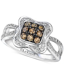 Chocolatier® Diamond Cluster Ring (1/2 ct. t.w.) in 14k White Gold