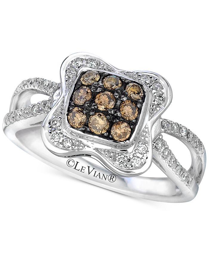 Le Vian - Diamond Cluster Ring (1/2 ct. t.w.) in 14k White Gold