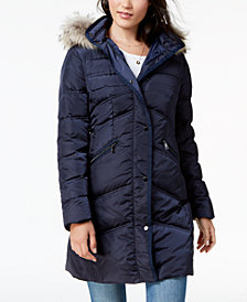 1 Madison Expedition Fur-Trim Puffer Coat