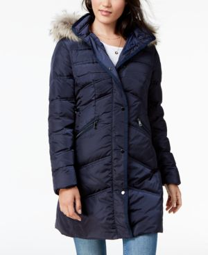 Image of 1 Madison Expedition Fur-Trim Puffer Coat