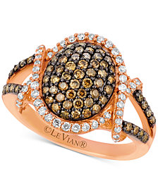 Le Vian Chocolatier® Diamond Oval Cluster Ring (1 ct. t.w.) in 14k Rose Gold