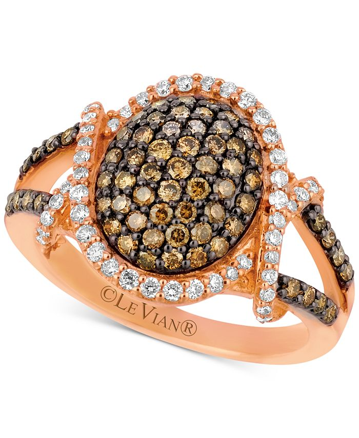 Le Vian - Diamond Oval Cluster Ring (1 ct. t.w.) in 14k Rose Gold