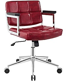 Modway Portray Mid Back Upholstered Vinyl Office Chair