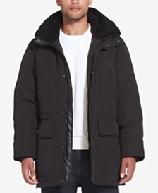 Sean John Men's Long Hooded Bomber Jacket
