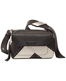 Calvin Klein Karsyn Leather Studded Crossbody