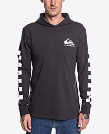 Quiksilver Men's Originals Check Logo Graphic Hooded T-Shirt