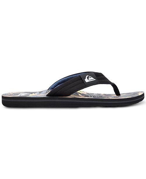 1bad4dbfb04d Quiksilver Men s Molokai Layback Sandals - Sandals   Flip-Flops - Men -  Macy s