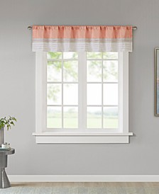 "Amherst Colorblocked 50"" x 18"" Rod-Pocket Window Valance"