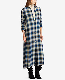Polo Ralph Lauren Plaid Twill Maxidress