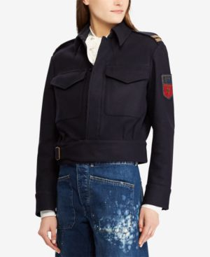 Embroidered Jacket, Aviator Navy