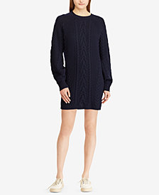Polo Ralph Lauren Aran-Knit Wool Sweater Dress