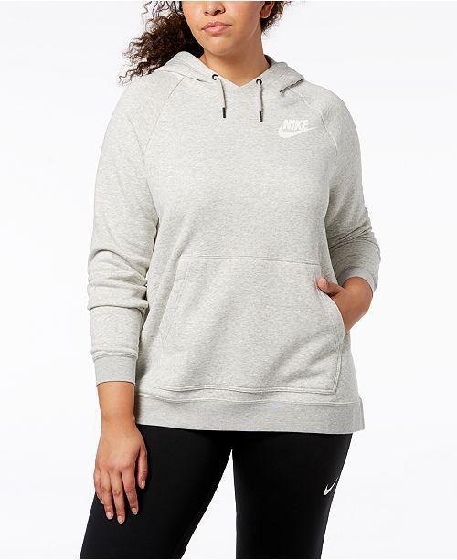 88dbd74dd40 Nike Plus Size Sportswear Rally Fleece Hoodie   Reviews - Tops ...