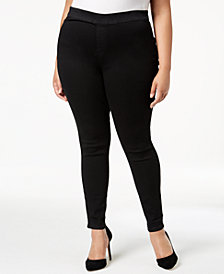 Celebrity Pink Plus Plus Size Pull-On Black Skinny Jeans