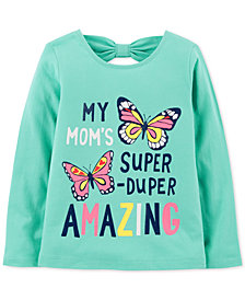 Carter's Baby Girls Butterfly-Print Cotton T-Shirt