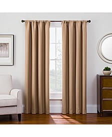 "Antique Satin 52"" x 84"" Room-Darkening Rod Pocket Window Panel"
