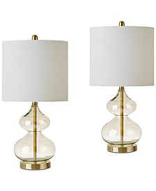 JLA Set of 2 Ellipse Table Lamps