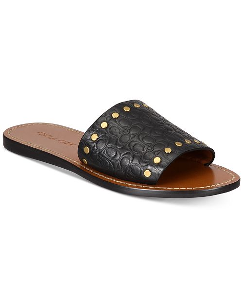 5df9b7499448 coupon for coach slide with rivets sandals sandals flip flops shoes macys  ff2eb c0c20