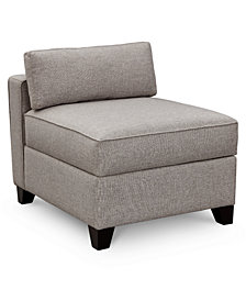 Clarke II Fabric Storage Armless Chair, Created for Macy's