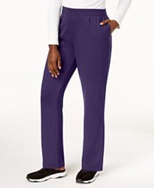 Karen Scott Petite Classic Fleece Elastic Waist Pants, Created for Macy's