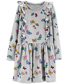 Carter's Little & Big Girls Butterfly Ruffle Cotton Dress