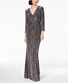 Calvin Klein Glitter Cutout Gown