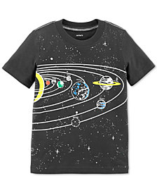 Carter's Toddler Boys Glow-In-The-Dark Solar-Print Cotton T-Shirt