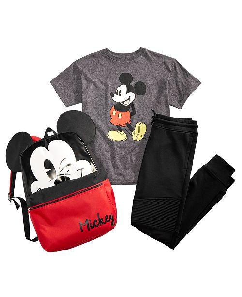 e5b1bb5684651 Disney Mickey Mouse Big Boys Mickey-Print T-Shirt
