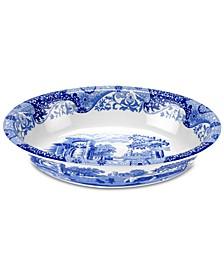 Blue Italian Oval Rim Dish