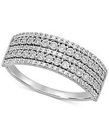 Diamond Multi-Row Band (1/4 ct. t.w.) in 14k White Gold