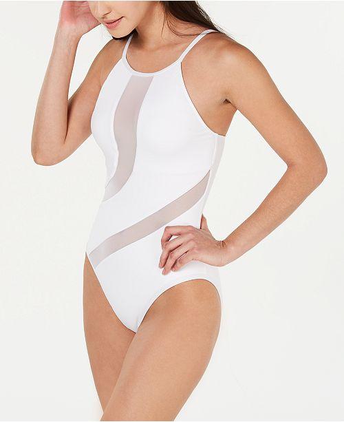bec87957ae La Blanca Triple Threat High-Neck One-Piece Swimsuit - Swimwear ...