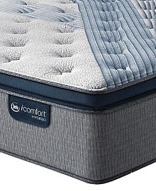 "iComfort by Serta Blue Fusion 1000 14.5""  Hybrid Luxury Firm Euro Pillow Top Mattress - King"