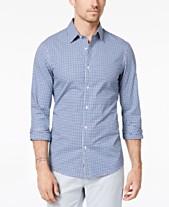 174a5dd603c9d Michael Kors Men s Slim-Fit Trim Stretch Gingham Shirt