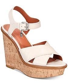 e91e3ad7f45a2 COACH Crossband Wedge Sandals