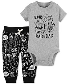 Carter's Baby Boys 2-Pc. Rad Cotton Bodysuit & Pants Set