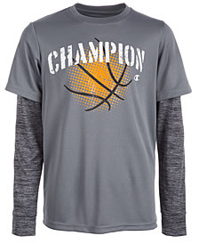 Champion Big Boys Basketball-Print T-Shirt
