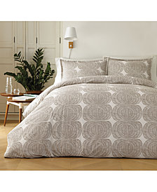 Marimekko Mehilaispesa Metallic Taupe Cotton 3-Pc. King Duvet Cover Set