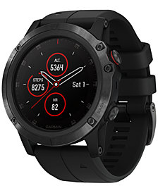 Garmin Unisex fenix® 5x Plus Black Silicone Strap Smart Watch 51mm