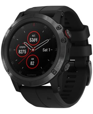 Fenix 5X Plus Sapphire Premium Multisport Gps Smartwatch, 51Mm in Black