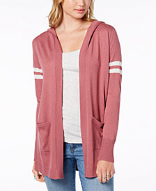 Hippie Rose Juniors' Hooded Cardigan