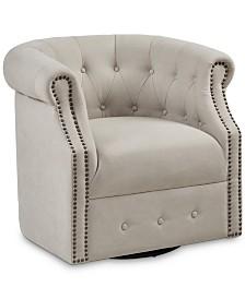 Cavson Swivel Chair, Quick Ship