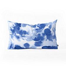 Deny Designs Lisa Argyropoulos Aquatica Denim Blues Oblong Throw Pillow