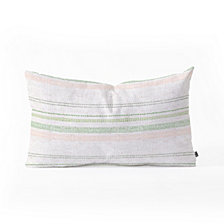Deny Designs Holli Zollinger FRENCH STRIPE BLUSH Oblong Throw Pillow