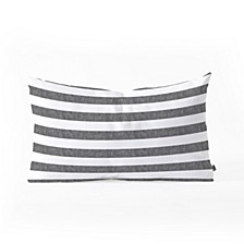 Little Arrow Design Co Stripes in Grey Oblong Throw Pillow