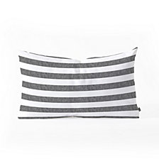 Deny Designs Little Arrow Design Co Stripes in Grey Oblong Throw Pillow