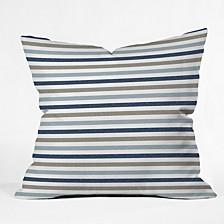 Little Arrow Design Co Multi Blue Stripes Throw Pillow
